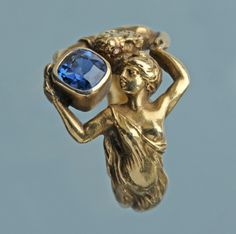 HENRI-ERNEST DABAULT Attrib. Art Nouveau Ring  French,ca 1900