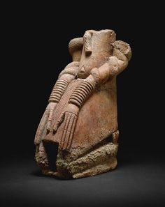 Jenné  Inland Niger Delta region, Mali        Kneeling Figure with Snakes, 11th/14th century              Terracotta