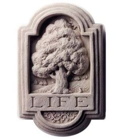 Creative Structures Cast Stone Tree Of Life Wall Plaque - Concrete Indoor/Outdoor Sculpture Concrete Sculpture, Outdoor Sculpture, Garden Plaques, Metal Garden Art, Table Top Display, Cast Stone, Paper Clay, Stone Carving, Wall Sculptures