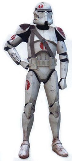 "Clone Commander  Member of the ""Australia Post Legion"" due to it's emblem. looking like the Australia Post logo."