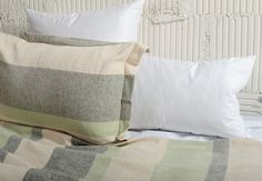 $24 JOINERY - Woven Cotton Bedding - LIVING Striped Bedding, Cotton Bedding, Woven Cotton, Bedding Shop, Joinery, Bed Pillows, Pillow Cases, Indoor, Blanket