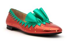 Angle view - Red/Green Crazy Shoes, Katy Perry, Red Green, Loafers, Flats, Vintage, Cute, Women, Fashion