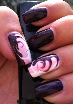 Swirls - Nail Art Gallery by NAILS Magazine