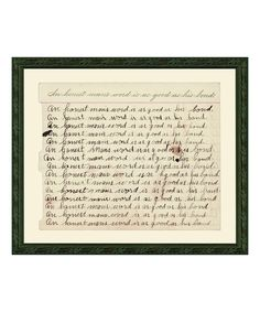 Look at this 'An Honest Man's Word' Wall Art on #zulily today!