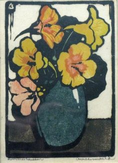 Arie Zonneveld, (1905-1941) Nasturtiums, Oost-Indische Kers, Kapuziner Kress