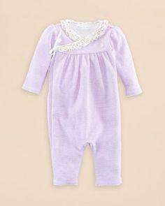 Ralph Lauren Childrenswear Infant Girls' Interlock Wrap Stripe Coverall - Sizes 3-12 Months | Bloomingdale's