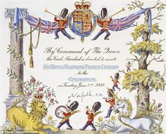 Invite: The Prince's personal invitation to Westminster Abbey will also be on display