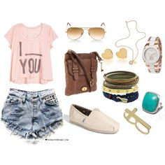 polyvore outfits for teenage girls summer - Google Search