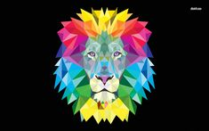 Animals Wallpaper Abstract Lion Iphone Wallpaper ~ HD Wallpaper Solar Cooling: What Is It Anyway? Geometric Lion Wallpaper, Lion Hd Wallpaper, Animal Wallpaper, Geometric Art, Iphone Wallpaper, Desktop Wallpapers, Lion Illustration, Lion Painting, Polygon Art