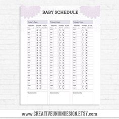 Baby Feeding Schedule  Download A Printable Version Or The