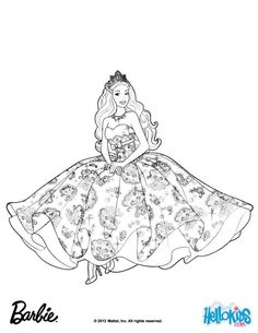 Looking for a Coloring Pages Of Princess Barbie. We have Coloring Pages Of Princess Barbie and the other about Coloring Page Fun it free. Barbie Coloring Pages, Disney Princess Coloring Pages, Disney Princess Colors, Coloring Pages For Girls, Cool Coloring Pages, Cartoon Coloring Pages, Barbie Princess, Coloring Pages To Print, Printable Coloring Pages