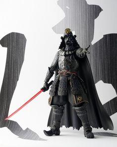 "Bandai Tamashii Nations Movie Realization Samurai General Darth Vader ""Star Wars"" Action Figure(Discontinued by manufacturer) Darth Vader Film, Darth Vader Action Figure, Star Wars Action Figures, Star Wars Darth, Boba Fett, Katana, Lightsaber Parts, Statues, Figurine Star Wars"