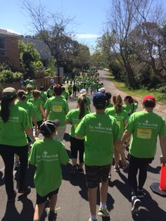 The Olivia Newton John Wellness Walk heads off in the streets of #Ivanhoe on 28 September 2014 to raise funds for cancer research.
