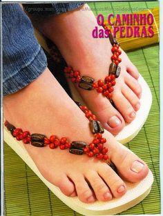 Revistas de manualidades Gratis: Revista aprender a bordar chinelos