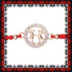 Martisor Bratara Aurie Zodia Gemeni Zodiac, Metal, Bracelets, Jewelry, See Through, Jewlery, Bijoux, Schmuck, Jewerly