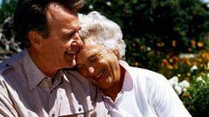 George and Barbara Bush, married since 1945