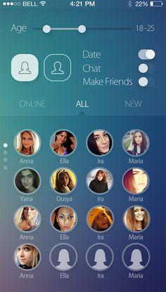 Dating App - Presentation & Walkthrough [GIF & VIDEO] on App Design Served