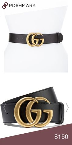 3a19b180067 100% Authentic Gucci Belt 100% authentic black Gucci belt