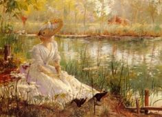 A Beauty By A River, Charles James Theriat