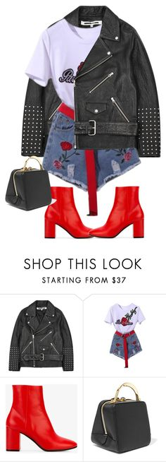 """""""Sans titre #1336"""" by sarabutterfly ❤ liked on Polyvore featuring McQ by Alexander McQueen, WithChic, Balenciaga and The Volon"""