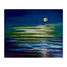 Moonlit Tide Stadium Blanket > Moonlit Tide also available on other items> Artwork and Play by D Renee Wilson