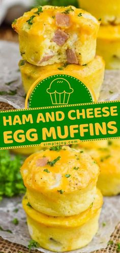 You will love these breakfast muffins! These Ham and Cheese Egg Muffins will keep kids full through the day. This egg recipe is perfect for an easy breakfast idea for back-to-school! Freezer… Ham Recipes, Brunch Recipes, Muffin Recipes, Yummy Recipes, Yummy Food, Breakfast Muffins, Breakfast Ideas, Breakfast Cupcakes, Free Breakfast