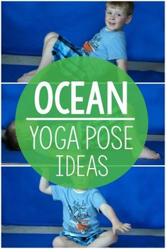 Ocean themed activities! Ocean themed yoga pose ideas. Perfect for an ocean unit activity, beach activities, brain breaks, or kids yoga. Use these all year long and have fun with the ocean theme! These are great for preschool gross motor, elementary classrooms, physical education, OT, PT, SLP and home!