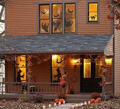 décoration-Halloween-entrée-idées-stickers-autocollants décoration Halloween
