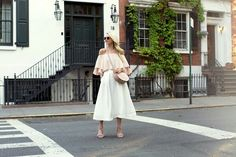 Top:MLM.Shoes(similar hereandhere). Skirt:CMEO. Sunglasses:Old, similar here. Lips:Stila 'Baci'. Saddle Bag:Cuyana