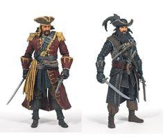 Assassins Creed Series McFarlane Figurine - Pirate 3 Pack - Sports Fan Shop - Where The Fans Shop Pirate Games, Pirate Art, Pirate Life, Pirate Ships, D D Characters, Fantasy Characters, Assassins Creed Series, Nba Merchandise, Forgotten Realms