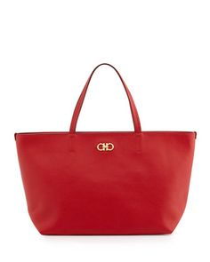 New Icona Bice Tote Bag, Rosso by Salvatore Ferragamo at Neiman Marcus.