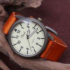 Men Watch - Leather Men Wrist Watch. $15.50, via Etsy.