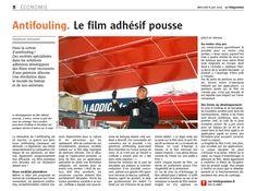 Article sur le film fouling release dans Le Télégramme, toutes éditions Bretagne