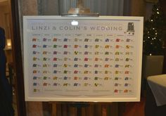 Linzi and Colin's Horse Racing Wedding Table Plan