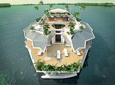 "What This ""Yacht"" Looks Like On The Outside Is Too Cool To Be True. - http://www.lifebuzz.com/floating-island/"