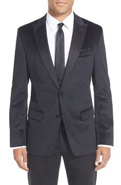 BOSS BOSS 'Hayford' Trim Fit Cotton Dinner Jacket available at #Nordstrom