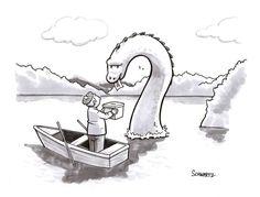 Nessie weighs in on Scottish independence, in today's daily cartoon: http://nyr.kr/1mijiyK (Cartoon by Benjamin Schwartz)