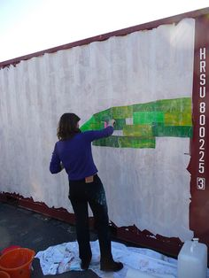 Jersey Mencap shipping container painting by JerseyArtsTrust, via Flickr