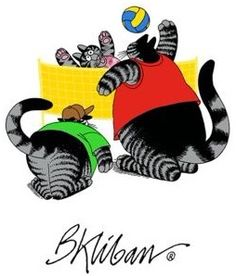 Volleyball Cats by B. Kliban
