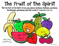 Fruit of the Spirit Bible Crafts...i used to use a lot of these when was teaching sunday school. the kids always enjoyed them. will be fun to use at home.