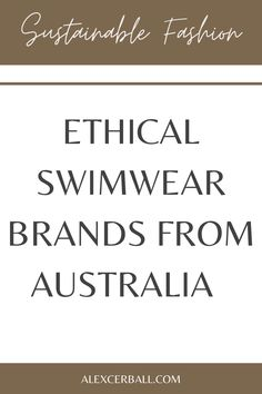 Searching for the most-flattering ethical swimwear brands from Australia to add to your swim collection? These swimsuit brands consciously design bikinis and one-piece bathing suits that offer support in all the right places.