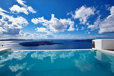 marvellous view from the pool in cyclades
