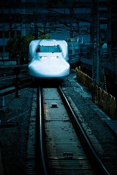 "Japanese bullet train ""Shinkansen"" that has handmade front body......Fine China...linen table cloths and conductors with white gloves....not even feeling the Train-moving...Class and Fast!"