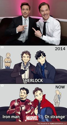 Tony Stark and Doctor Strange