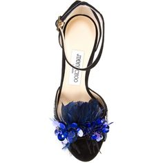 Jimmy Choo Annie 100 sequin sandals (21.229.445 IDR) ❤ liked on Polyvore featuring shoes, sandals, embellished sandals, stiletto sandals, peep toe stilettos, leather sole shoes and peep toe sandals