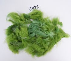 Raccoon Fur Scraps, Real Fur Pieces, Real Fur Pieces, Fur Offcuts for Craft and Sewing Projects, Genuine Fur Cuts, Fur Trims,  Green Fur