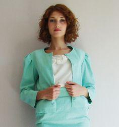 Veste courte vert menthe collection P/été : Manteau, Blouson, veste par amandinegrimm