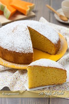 torta alla zucca sofficissima