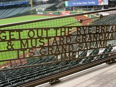 Famous words of Voice of the Seattle Mariners' Dave Niehaus emblazoned at Safeco Field | RIP Dave | Photo by Sue Frause