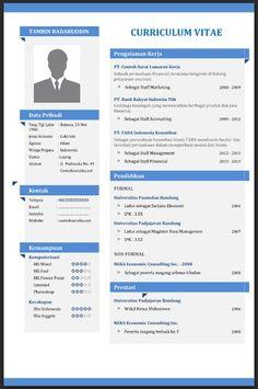 Contoh CV (Curriculum Vitae) yang Baik, Menarik dan Benar File Word